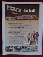 1981 Print Ad Uhaul U-Haul Moving Center ~ Rental Trucks & Vans UHAUL Has it All