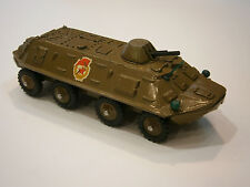 Vintage USSR Military Machine Metal BTR - 60 Russian Soviet Toy Red star
