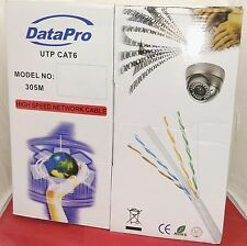 BRAND NEW DATAPRO CAT6 305m Network Data Ethernet Cable Grey 23AWG FAST SHIPPING