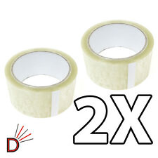 2X Rolls Of Strong Clear 48mm X 66M (2 Inch) Parcel Tape Packing Packaging Tape