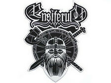 ENSIFERUM Viking Axe Shield Embroidered Giant Back Vest Jacket Patch 10""