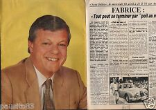 Coupure de presse Clipping 1986 Fabrice RTL  Antenne 2  Fr3 (2 pages)