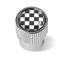 x4 Black & White Check CHROME VALVE DUST CAPS MINI R50 R52 R53 R56 R57 R58 R60