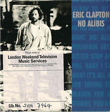 DISCO 45 GIRI ERIC CLAPTON no alibis // running on faith