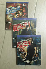 3 Blu-ray Lotto Stock THE BOURNE IDENTITY + SUPREMACY + ULTIMATUM Ltd Reel Heroe