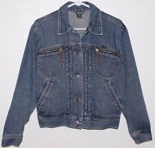 Women's Size M RALPH LAUREN JEANS CO Denim Button Short Jean Jacket Coat * EC *
