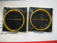 2 SMALL LIVESTRONG Yellow Bracelet BAND Wristband LAF - FREE USA DELIVERY