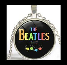 NEW - THE BEATLES MUSIC FAN GIFT GLASS OPTIC PENDANT NECKLACE