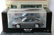 NISSAN 200SX S13 METAL DARK GREY 1991 NEO 44526 1/43 LHD LEFT HAND DRIVE GRISE