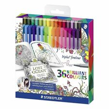 Staedtler Triplus Fineliners 36 Brilliant Colours ideal for colouring books