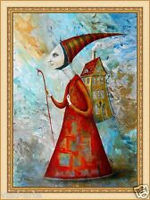 Painting original Oil canvas CONTEMPORARY ART surrealism ,impressionism , modern