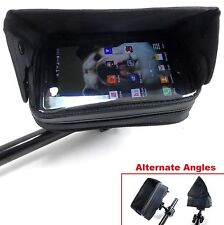 Handlebar Mounted Cell Phone GPS Case w/ Sun Visor UTV ATV Trail Riding Polaris