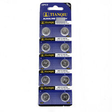 10 x AG13 LR44 SR44 L1154 357 A76 Alkaline batteries button cells watch camera U