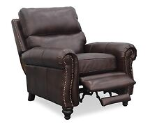New Barcalounger Dalton II Genuine Kerry Sable Top Grain Leather Recliner Chair