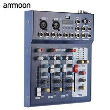 ammoon F4-USB 3 Channel Digtal Mic Line Audio Mixing Mixer Console New C2N0