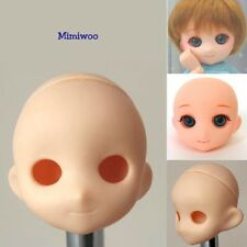 Obitsu OOAK 1/6 Bjd Dollfie Doll Natural Skin Muffin Head with Eye Hole
