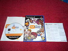 EYE TOY PLAY ORIGINAL BLACK LABEL SONY PLAYSTATION 2 PS2 PAL VGC