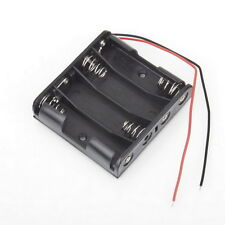 Battery Box Slot Holder Case for 4 Packs Standard AA 2A Batteries Stack 6V CC