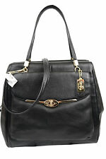 NWT Coach Madison Leather North South Satchel 25170 Black