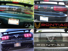 CHROME PONTIAC FIREBIRD 93-99 2000 01 02 BUMPER LETTERS REAR INSERTS NOT DECALS