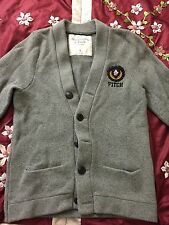 MENS GREY S ABERCROMBIE & FITCH  CARDIGAN  SWEATER PREPPY