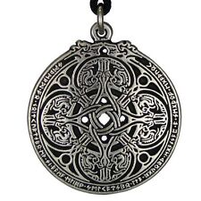 Dragon Shield Celtic Knot Pendant Talisman for Soldiers & Military Wicca charm