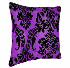 "Cushion Covers Flock DAMASK Cushions Cover OR Filled Cushion 18""X 18"" UK Seller"