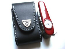 Victorinox Super Timer Swiss Army Knife in Genuine Leather Pouch