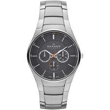 NWT! $175 Skagen Men's Aabye Chronograph Bracelet Watch - Silver - SKW6054