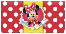 Minnie Mouse Leather Checkbook Cover