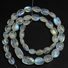 Rainbow Moonstone Smooth Nuggets Beads 18.3 inch strand