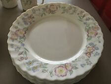 "Arcopal France ""Champetre"" Pink FLowers Scalloped Salad Plates"