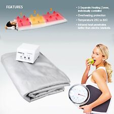 Far Infrared Sauna Blanket IR Portable Digital Controller Slimming Finnex 600W