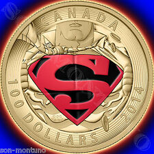 2014 Canada 14KT GOLD SUPERMAN $100 COIN Iconic Comic Book Covers 596