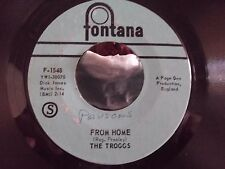 THE TROGGS ON FONTANA RECORDS WILD THING / FROM HOME VG+ COPY