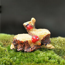 Miniature Resin Tree Stump Ladybug Fairy Garden Bonsai Ornament Figure Decor New