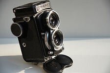 *RARE* ROLLEI ROLLEIFLEX 4 X 4 BABY BLACK (Recent CLA); only 5000 made
