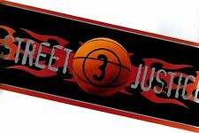 STREET JUSTICE  BASKETBALL WALLPAPER   BORDER WITH YELLOWS AND ORANGE  BZ9422B