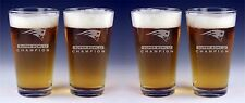 4 UNITS PATRIOTS Super Bowl 51 Champion Beer Glasses FREE Decal Set x4 Etched