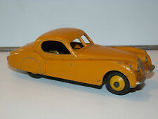 VINTAGE DINKY TOYS 157 JAGUAR XK120 COUPE YELLOW 1950s MECCANO ENGLAND