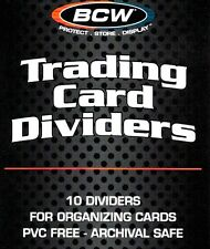 50 BCW White Plastic Sport Gaming Trading Card Dividers for Card Boxes - NEW