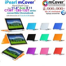 "NEW mCover Hard Shell Case for 11.6"" Acer Chromebook R11 CB5-132T/C738T Laptop"