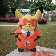 """Pocket Monsters XY Pikachu With Team Flare Suit 8"""" Pokemon Center Plush Toy Doll"""