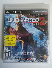 NEW Uncharted 2: Among Thieves ps3 Original First 1st Print Black Label