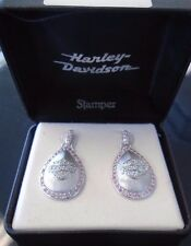 Harley-Davidson Women's Pink Dome Bar & Shield Earrings by Stamper
