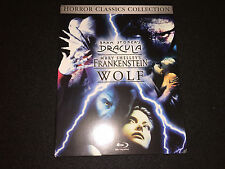 WATCHED ONCE Horror Classics Collection Blu-ray Dracula Wolf Frankenstein Slip