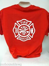 Fire Rescue Maltese Cross Firefighter T-Shirt Your Choice of Colors and Prints