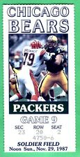 11/29/87 GREEN BAY PACKERS/CHICAGO BEARS TICKET STUB