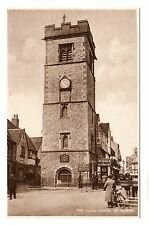 Clock Tower - St Albans Photo Postcard c1940s
