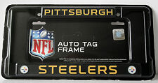 Pittsburgh STEELERS License Plate FRAME METAL BLACK NFL for Car or Truck